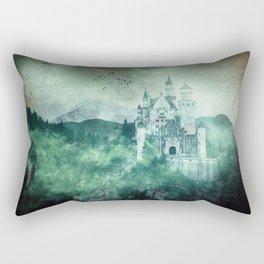 The dark fairytale - Bavarian Fairytale Castle Rectangular Pillow
