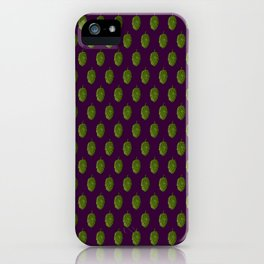 Hops Dark Purple Pattern iPhone Case