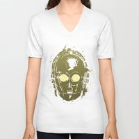 c3po V-neck T-shirts featuring C3PO by Peyeyo