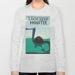 Loch Ness Monster vintage 'children's book' travel poster Long Sleeve T-shirt