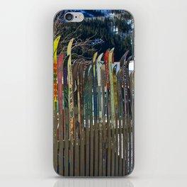 Colorado Ski Fence iPhone Skin