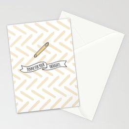 Penne For Your Thoughts. Stationery Cards