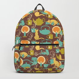 Cozy cat hygge Backpack