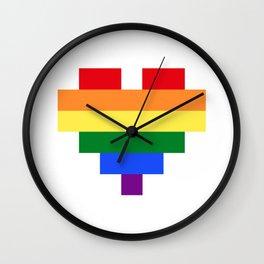 LGBT Heart Wall Clock