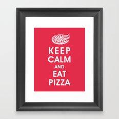 Keep Calm and Eat Pizza Framed Art Print