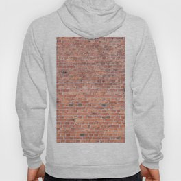 Plain Old Orange Red London Brick Wall Hoody