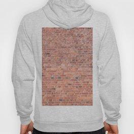 Plain Old Orange Red London Brick Wall Hoody
