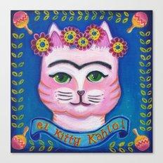 el Kitty Kahlo Canvas Print