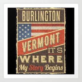 Burlington Vermont Art Print