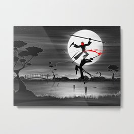 Blood, Over Water Metal Print