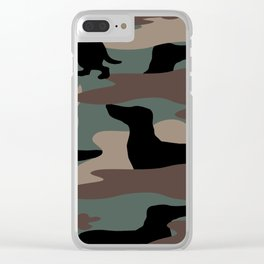 Camo Weiner Dogg Clear iPhone Case