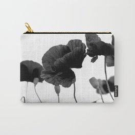 Poppy (black and white) Carry-All Pouch