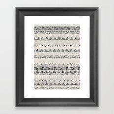 MONOTONE  GEOMETRIC ANIMAL PRINT  Framed Art Print