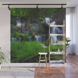 Rocky Forest Waterfall Wall Mural