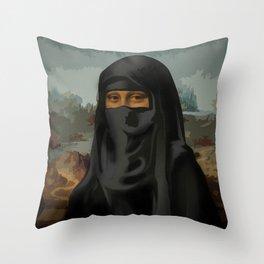 Niqab - Monnalisa Throw Pillow