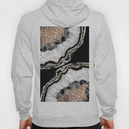 Yin Yang Agate Glitter Glam #8 #gem #decor #art #society6 Hoody