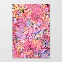 Peach Poppy Garden Canvas Print
