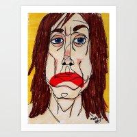 iggy pop Art Prints featuring Iggy Pop by Sasquatch