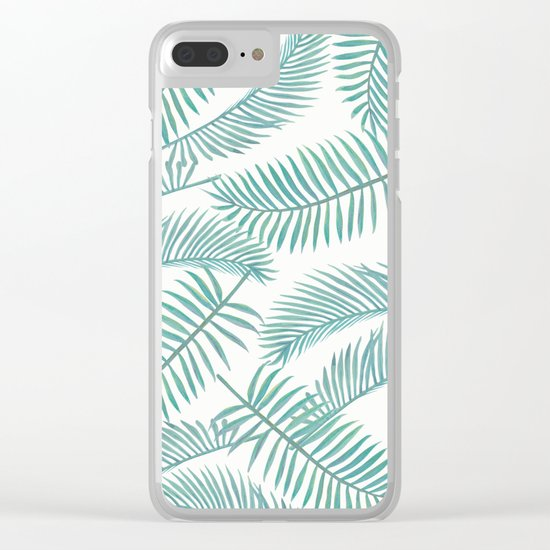 Palm Leaf Pattern Island Paradise Clear iPhone Case