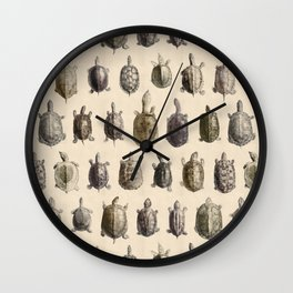 Vintage Turtles Pattern Wall Clock