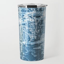 Steel blue nebulous wash drawing paper Travel Mug
