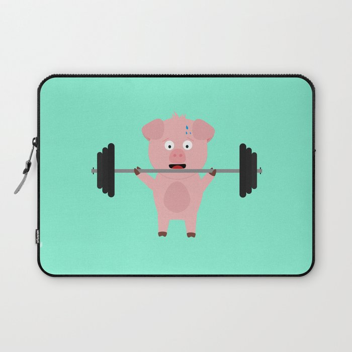 Fitness Pig with Weights Bjzsl Laptop Sleeve