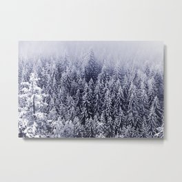 Winter forest trees #6 Metal Print