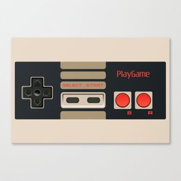 Retro Gamepad Canvas Print