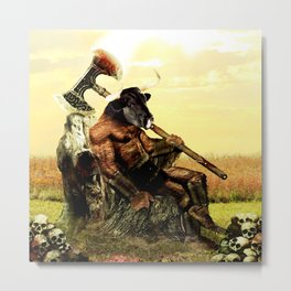 The Minotaur's Rest Metal Print