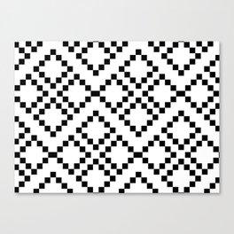 Monocrom pattern Canvas Print