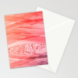 Peach Glamour Marble Landscape  Stationery Cards