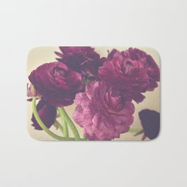 Romantic Ranunculus Bath Mat