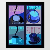 Art Deco Coffee Art Print