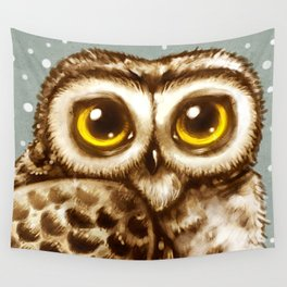 Owl Face Wall Tapestry