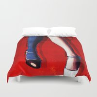 legs Duvet Covers featuring Legs by Ed Pires
