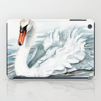 swan iPad Cases featuring Swan by rchaem