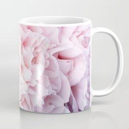 Peony Flower Photography, Pink Peony Floral Art Print Nursery Decor A happy life - Peonies 3 Coffee Mug