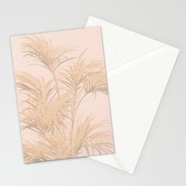 Pink And Blush Palm Leaves Stationery Cards