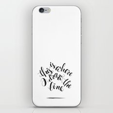 this is where I draw the line iPhone & iPod Skin