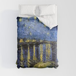 Van Gogh Starry Night Over the Rhône Comforters