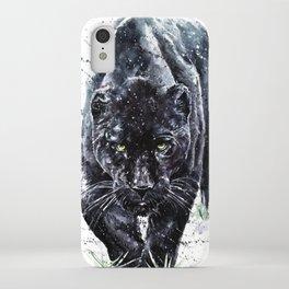 Panther watercolor painting predator animals puma jaguar wild & fre iPhone Case