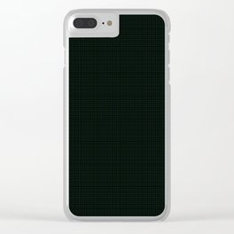 Accomack,  Blue Stone on Forest Green Ginghamite,  Tattered Salvatore Clear iPhone Case