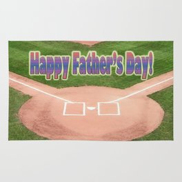 Happy Father's Day Baseball Rug