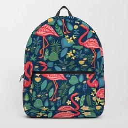 Flamingo Blue Pattern Backpack