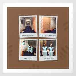 Twins & Chocolate Art Print