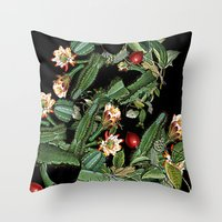 botanical Throw Pillows featuring BOTANICAL  by sametsevincer