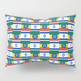 Mix of flag : israel and ethiopia Pillow Sham