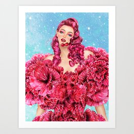 Cherry Girl Art Print