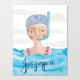 Just Jump In Canvas Print