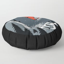 Red Snowboarder Snowboarder Gift Floor Pillow